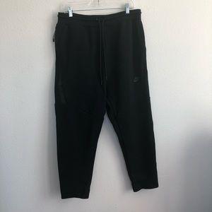 Nike tech fleece black zip pocket sweats joggers L